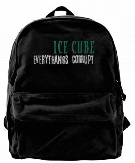 afe21c9fadbd Ice Cube Everythangs Corrupt Logo Fashion Canvas Designer Backpack For Men  & Women Teens College Travel Daypack Leisure Bag Black Daypack Swissgear ...