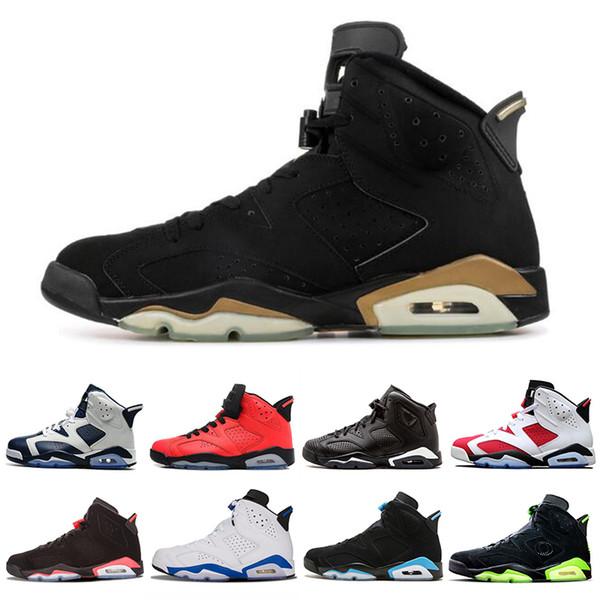 Kızılötesi Getirdi 6 6 s Erkekler Basketbol Ayakkabı DMP UNC Oreo Flint Carmine Erkek Eğitmenler Spor Sneakers ABD 7-13