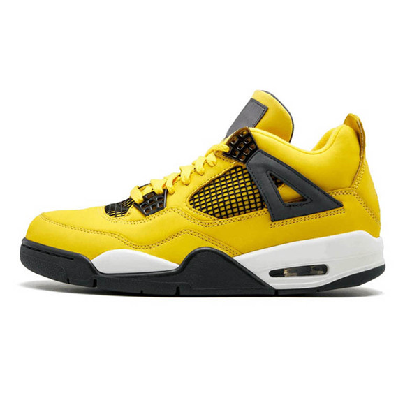 2019 Bred OG 4 Lighting Pale Citron Hot Peach 4s men Basketball Shoes Pizzeria Singles Day Black cat Mens Designer trainers Sports Sneakers