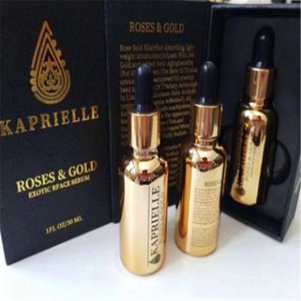 VAGA ROSESGOLD KAPRIELLE Gold Face Cream 30ML Whiten Hidratante EXOTIC FACE SERUM Serum de esencia para mujer Cuidado facial de la piel
