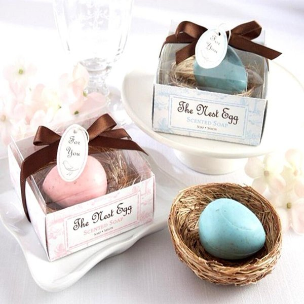 Свадебные сувениры гнездо яйцо мыло подарочная коробка дешевые практические уникальные свадебные ванны мыло небольшие сувениры LX8801