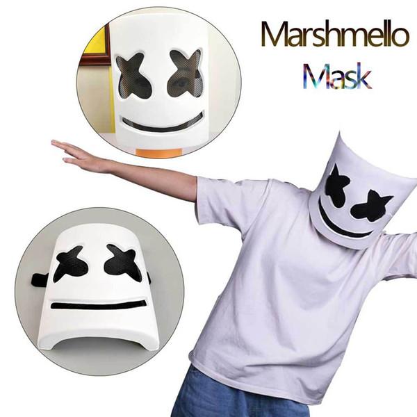Cadılar bayramı Maskesi Hatmi çünkü yüz Büyük Hece Aynı Hood Ile Tam Yüz Maskesi DJ Marshmello