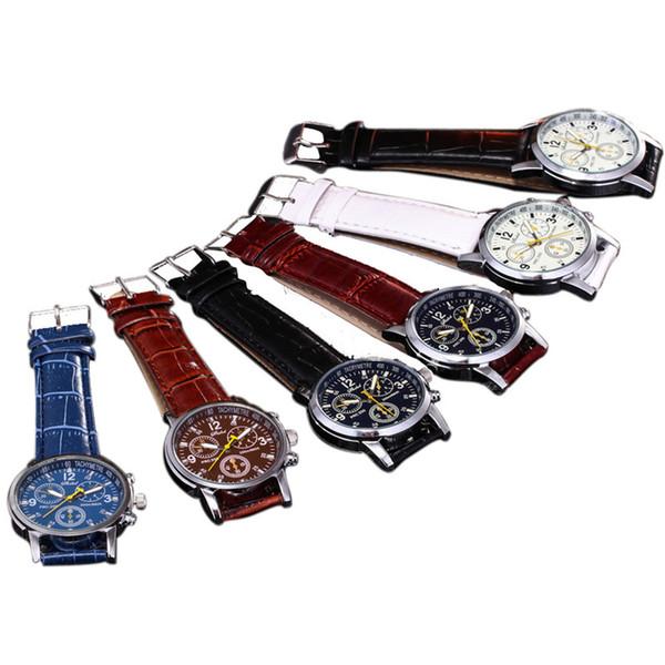 top popular luxury leather wrist watches brand designer watch new geneva watch wheel casual men business sport quartz retro wristwatches fashion 2020
