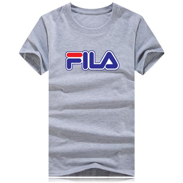 2019Herren mit kurzen Ärmeln und gestreiftem Monogramm auf der Brust. Heißes T - Shirt, lässiger Stil, Großhandelspreis
