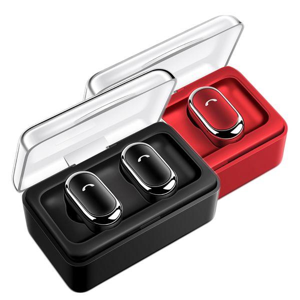 D005 TWS Bluetooth 5.0 Kulaklık Stereo Binoral Kulaklık Gürültü Azaltma Kulaklık Kablosuz Kulaklıklar Mikrofon ile Şarj Kutusu