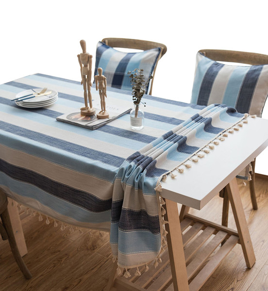 Groovy Yo Hoom Minimalist Nordic Striped Waterproof Tablecloth Mediterranean Style Tablecloth Table Cloth Kitchen Restaurant Tablecloths Linen Chair Covers Pabps2019 Chair Design Images Pabps2019Com