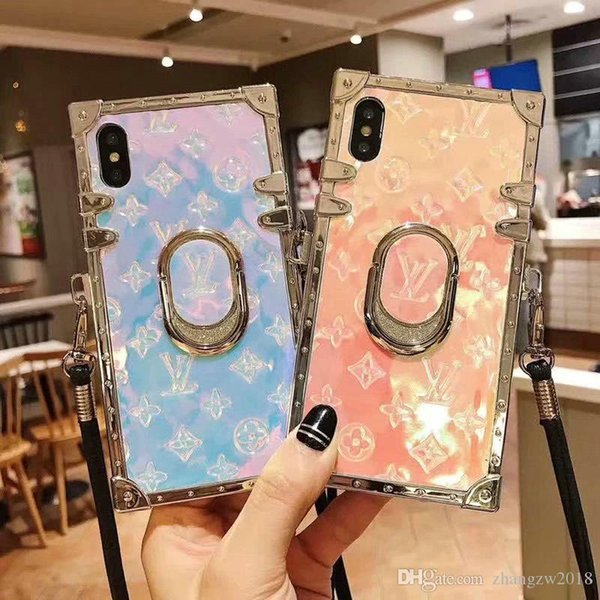 2019 nuevo diseño de marca antiguo soporte de diamantes de imitación caja del teléfono móvil para iphone Xs max Xr X 7 7plus 8 8plus 6 6plus con cordón