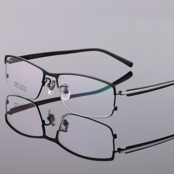 Coyee Pure Titanium Business Optical Eyeglasses Frames  Designer Top Quality Eyewear For Men Fashion Half Rim Flexible