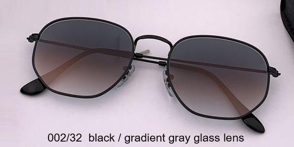 002/32 عدسة زجاجية رمادية سوداء / متدرجة