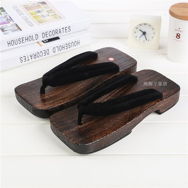 Mazefeng Unisex Shoes Print Wood Geta Sandals Men Chinese Geta Clogs Classial Wooden Slippers Mens Flip Flops Japanese Clogs White Boots Shoes Uk From