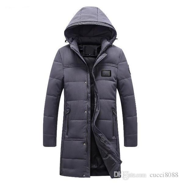 Mode Winter Herren Baumwolle gepolstert einfarbig M0nclller Langarm Oberbekleidung Mann Daunenjacken Dünn Slim Fit Mäntel Herrenmantel # 75