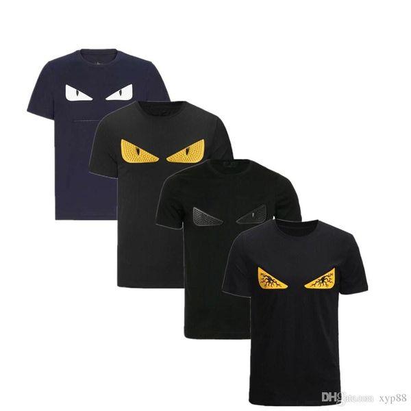 VL 2019 Diseñador de lujo Novedad Camisetas para hombres Camisetas casuales Letra de moda FF ROMA Camiseta bordada Camisetas para hombre Camisetas de manga corta