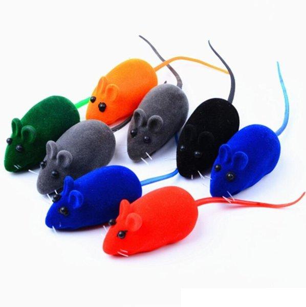 Juguete vocal del perro flocado ratón burlas juguete del gato Teddy Pomeranian mascota perro cachorro elemento de instrucción