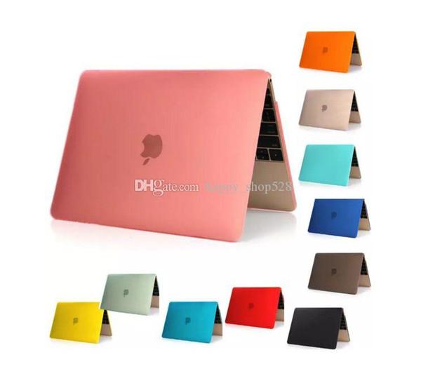 Pour Macbook cas pour ordinateur portable Netbook Frosted Matt caoutchoutée avant + arrière Etui PC Couverture pour 11,6 Air 13 13,3 15,4 Pro Retina