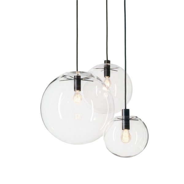 Simple modern glass ball pendant light LED E27 art deco Europe hanging lamp with 8 styles for bedroom restaurant kitchen parlor