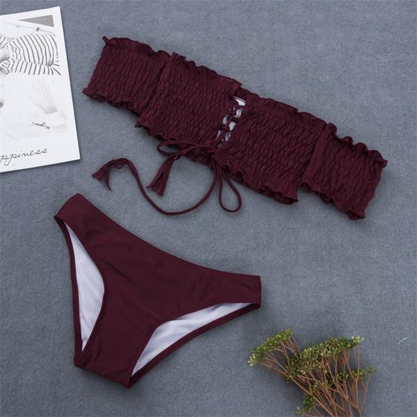 bikinis set vin rouge