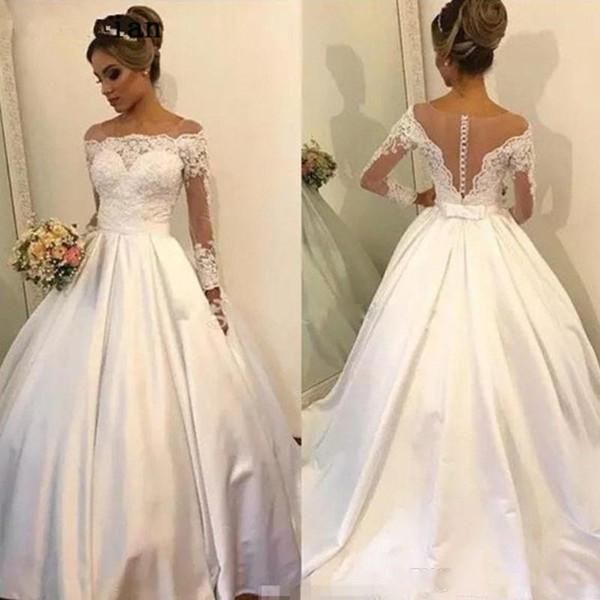 Plus Size Ball Gown Wedding Dresses Vestido De Noiva Off Shoulder