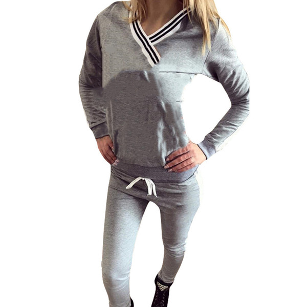 Women's activity suit sportswear hoodie sweatshirt + pants running sports running clothes 2 sets of jogging suits jogging sports clothing