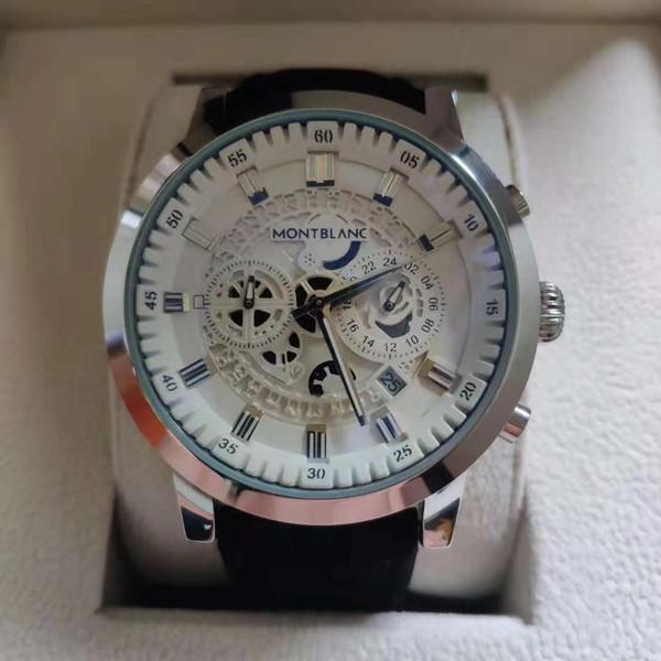 Hot vente marque Tout le travail de pointeur secondes Exécution des montres de luxe 40mm horloge montre mâle classique QUARTZ Relogio montre-bracelet de la marque