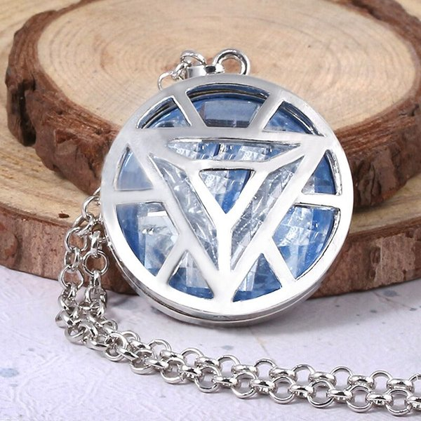 avenger 4 iron man necklace soul stone thanos thor crystal men women jewelry chain crystal pendant letter jewelry