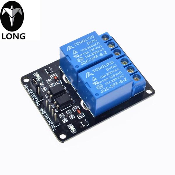 Быстрая доставка 1 шт. 5 в 2-канальный релейный модуль щит для Arduin ARM PIC AVR DSP Electronic .Мы являемся производителем