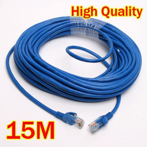 best selling New Blue 15M 20M 30M 50 FT RJ45 CAT5 CAT5E Ethernet Patch LAN Network Networking Cable Cord Free Shipping High Quality,dandys