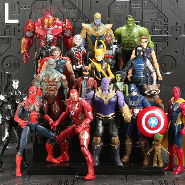 The Avengers PVC Action Figures Marvel Heros 16cm Iron Man Spiderman Captain America Ultron Wolverine Figure kids toys