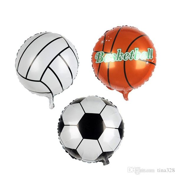 Football Balloon Basketball Foil Balloons for world cup inflatable balloon Children Toys birthday Party Decoration balloon T2I237