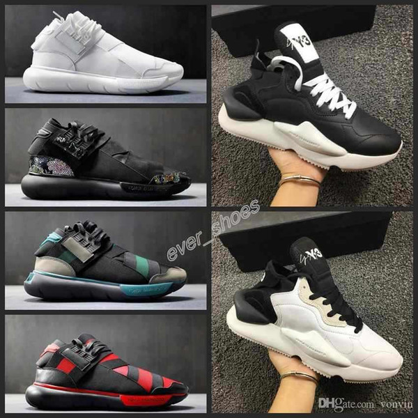 new y3 kaiwa chunky y-3 sneakers designers sports runner shoes men scarpe da uomo shoes trainers sports mid boots chaussures 39-45, Black