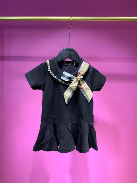 Mädchen Rock neue süße frische Brust und Bogen einfache und stilvolle Mode wilde Prinzessin Kleid