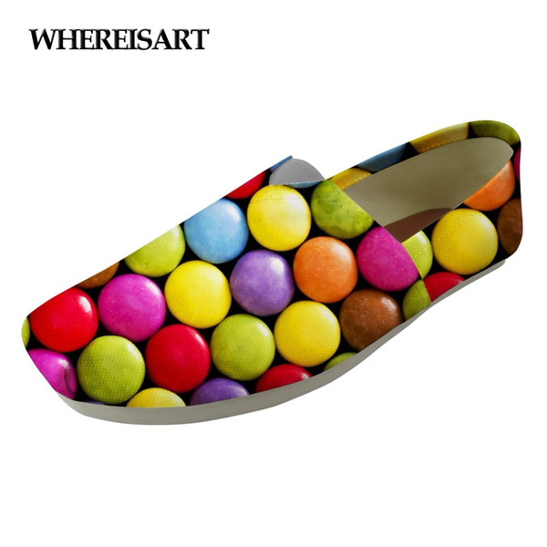 WHEREISART Candy Color Ladies Casual Flats Shoes Woman Cotton Breathable Leisure Lazy Shoes for Teenage Girls Light Women