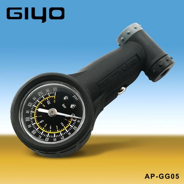 Medidor De Pneu Bicicleta Giyo Schrader válvulas presta Barômetro Pressão de Ar 160 Psi