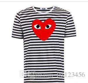 CDG PLAY si abbina a magliette firmate da uomo OFF With Heart sport tee Camicie des garcons Bianco Pablo stripe Camicie per l'estate vetements