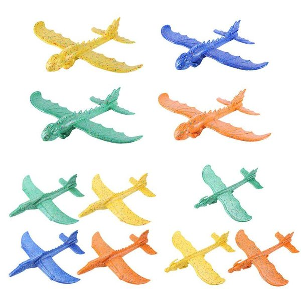 Hand Launch Throwing Glider Aircraft Foam EPP Dinosaur Dragon Airplane Toys For Children Educational Toys Christmas gift