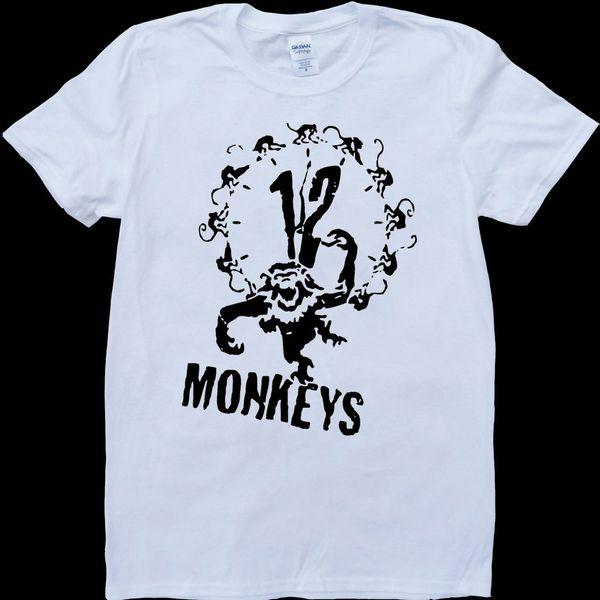 12 Monkeys White, Custom Made T-Shirt white black grey red trousers tshirt suit hat pink t-shirt Classic t-shirt