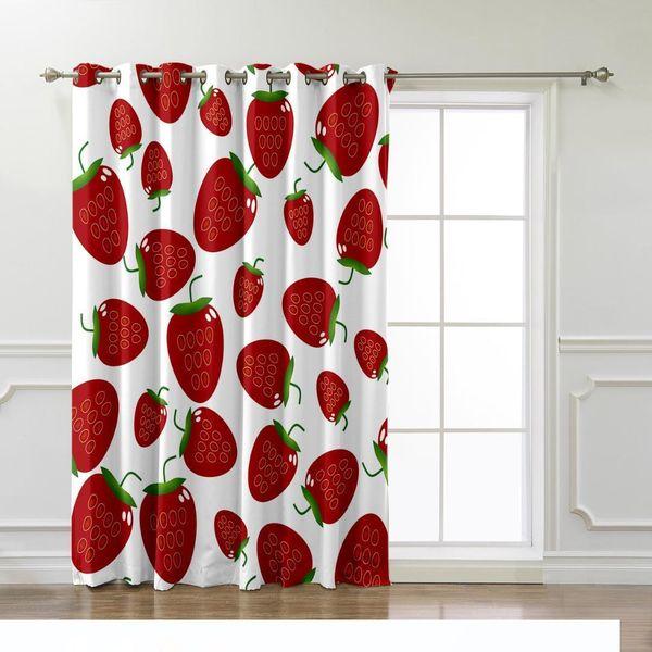 2019 Strawberry Fruit Window Treatments Curtains Valance Window Curtains  Dark Curtain Lights Bathroom Kitchen Indoor Decor Kids From Qy010, $29.49 |  ...