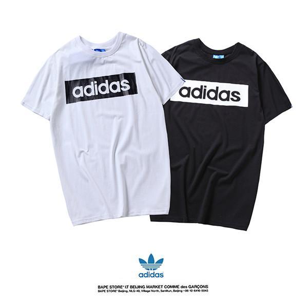 2019 été nouveaux T-shirt pour hommes et femmes col rond T-shirt imprimé à manches courtes shipping024 gratuit