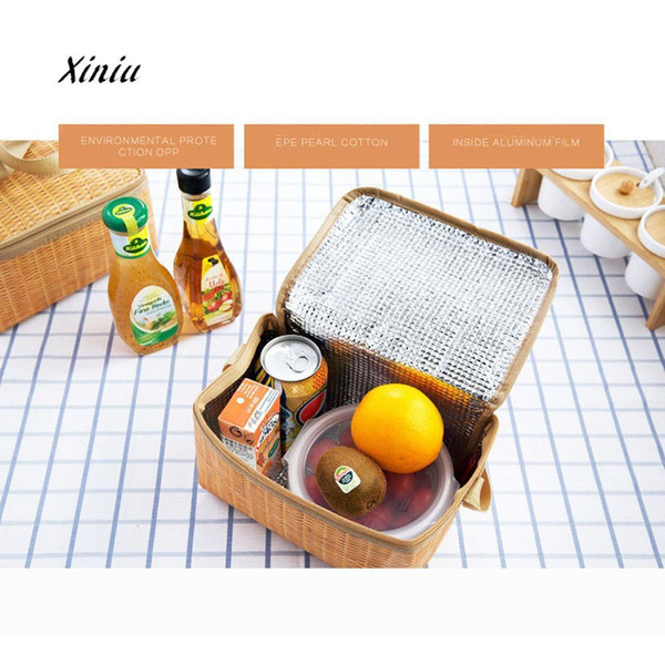 Portable Lunch Bags Insulated New Design Thermal Cooler Lunch Box Tote Storage Bag Picnic Container Food Picnic Bag Packet D19010902