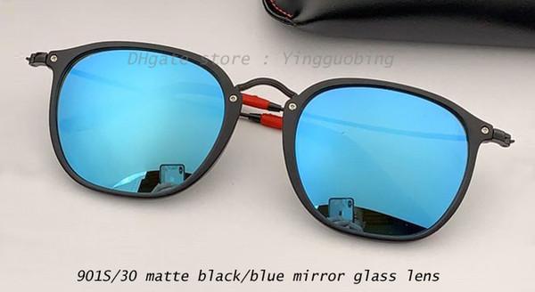 901S/30 matte black/blue mirror lens