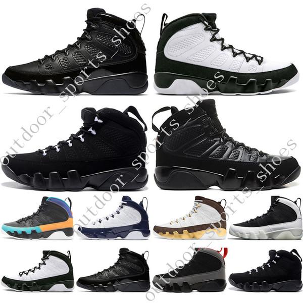 In stock 9 9s Dream It Do UNC Mop Melo Mens Scarpe da basket LA OG Space Jam uomo Bred Nero Anthracite scarpe da ginnastica sportive designer US 7-13