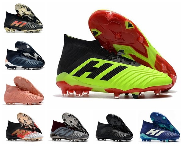 Mens High Ankle Youth Kids Football Boots Predator 18+x Pogba FG Accelerator DB PureControl Purechaos Soccer Cleats Shoes for women