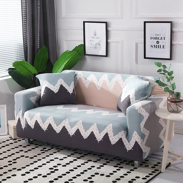 Simple Line Style Stretch Sofa Cover Cotton Elastic All Inclusive Armchair  Corner Sofa Covers For Living Room Home Decoration Dining Room Chair Seat  ...