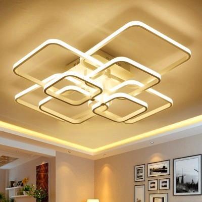 2019 Lampadario a led moderno con luci acriliche telecomandate per soggiorno Camera da letto Lampadario a soffitto da parete Spedizione gratuita