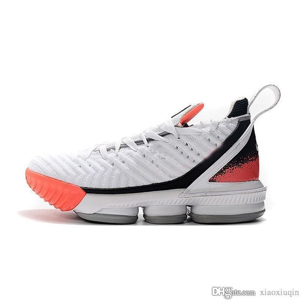 new concept 8b14a 0ad6b 2019 Mens Lebron 16 Basketball Shoes New White Black Orange Watch Oreo BHM  Easters Boys Girls Lebrons James Sneakers Tennis With Box Size 7 12 From ...