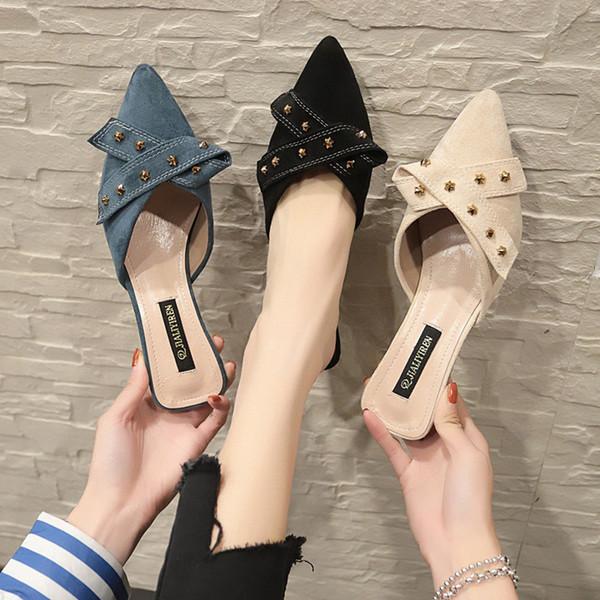 Dress Shoes Lmcavasun Women High Heel Flock Bow Pointed Toe D'orsay Two-piece Strange Pearl Heel Stiletto Party Women Pumps