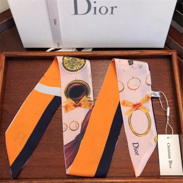4 Arten Frauen Hals Zubehör Mode Muster Gedruckt Design Lady Brand Stirnbänder Persönlichkeit Trendy Mädchen Krawatten