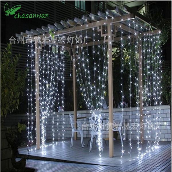 Natale vendita X 3m 304led tenda stringa Eu 220v natale ghirlanda luci a led per la festa di nozze capodanno decorazione di festa, w Q190606
