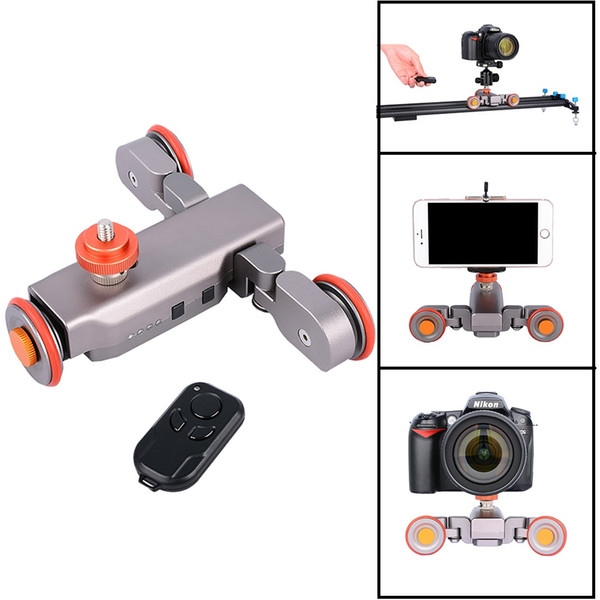 Freeshipping Autodolly Wireless Remote camera Motorized Dolly Car DSLR Electric Track Slider Video Pulley Rolling Skater