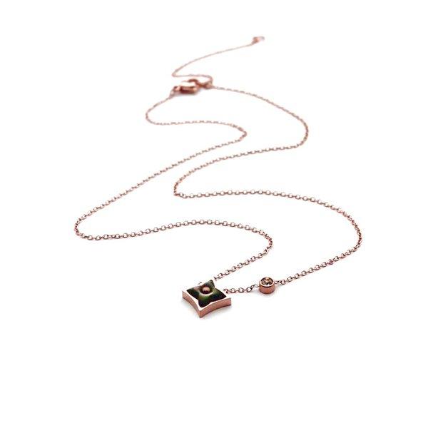 Oro rosa / Grigio quadrato