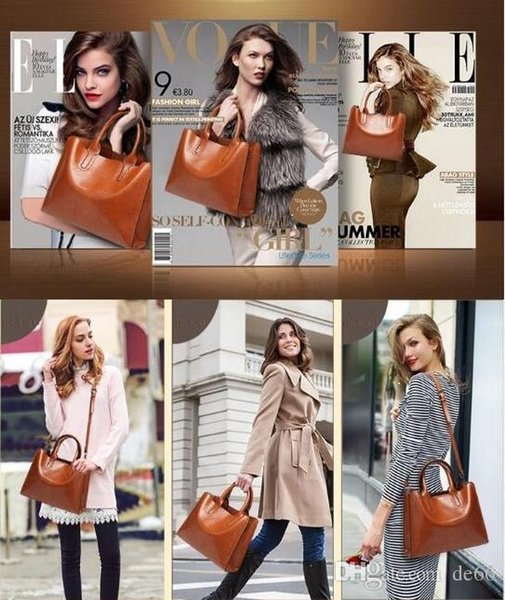Donne Messenger Handbag in pelle Casual Nappa Borse Designer femminile Vintage Big Size Tote Shoulder Alta qualità bolsos Lover Kiss regalo